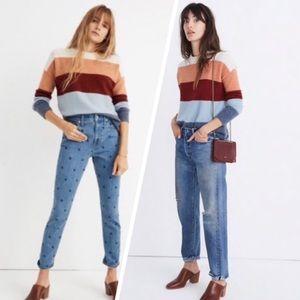 Madewell crofton stripe cozy yarn pullover